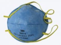 Противоаэрозольный респиратор 3М 9915, 1-й степени защиты с дополнительной защитой от кислых газов. До 4 ПДК, от кислых газов - до 10 ПДК