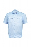 Рубашка полиции серо-голубая с коротким рукавом на резинке