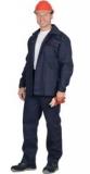 Костюм Профи-2: куртка, брюки (100% узбекская саржа) синий с оранжевым кантом