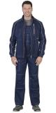 Костюм Алекс летний мужской: куртка, брюки, темно-синий