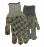Перчатки акриловые с ПВХ (серые)