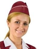 Пилотка (бордовая) из смесовой ткани
