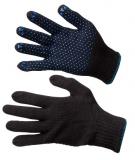 Перчатки полушерстяные с точечным ПВХ покрытием ладони