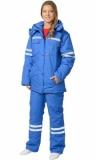 Костюм Скорая помощь женский зимний: куртка, полукомбинезон васильковый