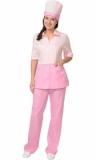Медицинский костюм Стефани женский: куртка, брюки, колпак розовый с тёмно-розовым