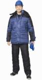 Костюм Европа зимний: куртка длинная, брюки синий с черным
