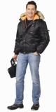 Куртка Аляска мужская укороченная чёрная