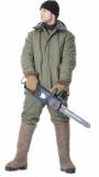 Куртка Зима длинная, (полотно палаточное, ватин) оливковая