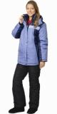 Куртка Фристайл длинная, женская синяя с голубым