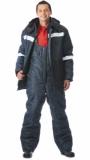 Костюм Метеор: куртка длинная, полукомбинезон синий с чёрным и светоотражающей полосой