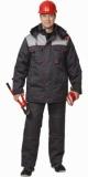Костюм Фаворит зимний: куртка длинная, брюки тёмно-серый с серым