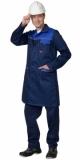Халат Фаворит мужской тёмно-синий с васильковым