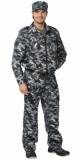 Костюм Фрегат для охранника: куртка, брюки камуфляж серый