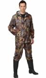 Костюм Турист: куртка, брюки камуфляж Лист