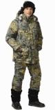 Костюм Хамелеон: куртка длинная, полукомбинезон камуфлированный Зима + КМФ Лист