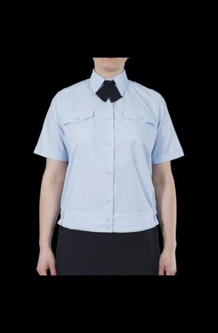 36a749a1239e Блуза полиции женская светло-голубая с коротким рукавом на резинке ...
