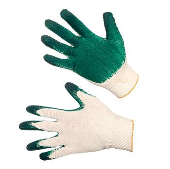 Перчатки трикотажные х/б с латексным покрытием ладони