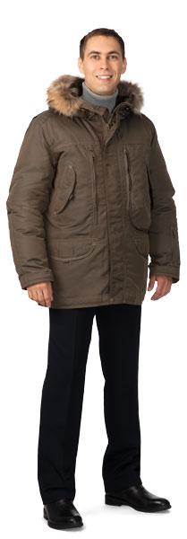 Куртка мужская утепленная «Капитан» (коричневая)