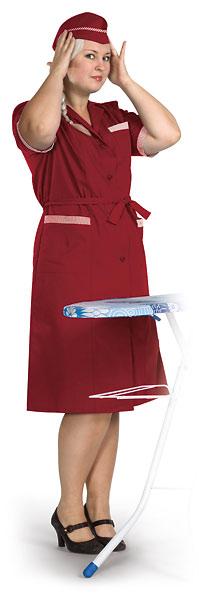 Халат женский цветной (короткий рукав, бордовый)