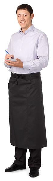 Фартук поварской «Класс» (черный)