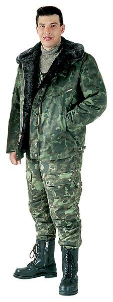 Куртка мужская меховая лётная камуфлированная