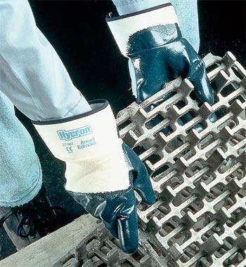 Перчатки-краги «Хайкрон» с нитриловым покрытием ладони (27-607)