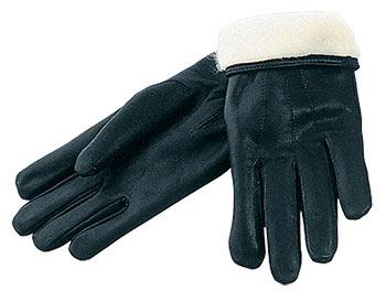 Перчатки кожаные с подкладкой из натурального меха (овчина)
