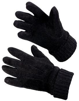 Перчатки утепленные велюр-трикотаж с утеплителем Тинсулейт®