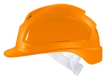 Каска защитная «Феос» с текстильным оголовьем (9772220) оранжевая
