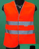 Жилет сигнальный светоотражающий на липучке оранжевый ТИП 1 Т