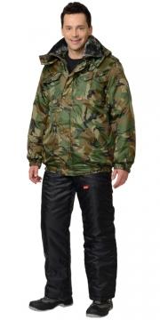 Куртка Полюс короткая, камуфляж Лес