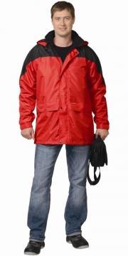 Куртка Классика красная с чёрным
