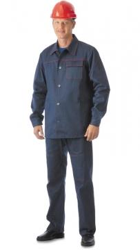 Костюм Импульс: куртка, брюки синий с красным кантом