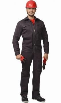 Костюм Марс: куртка длинная, брюки, х/б серый