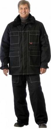 Костюм Альпак: куртка длинная, брюки оливковый