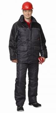 Костюм Балтика: куртка длинная, полукомбинезон тёмно-серый с чёрным