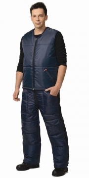 Жилет Беркут утеплённый мужской синий