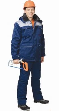 Костюм «ПРОФЕССИОНАЛ» зимний: куртка длинная, брюки синий с серым