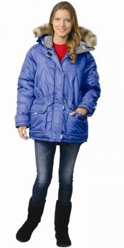 Куртка Аляска женская васильковая