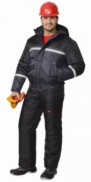 Куртка Гастарбайтер-2 коричневая,тёмно-серая с чёрным и светоотражающей полосой