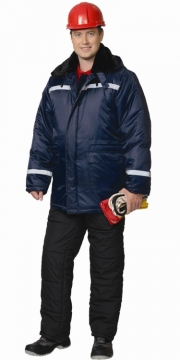 Куртка Север-2 длинная, зимняя синяя