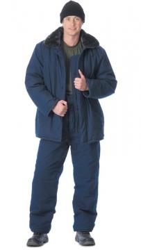 Костюм Метель: куртка длинная, брюки тёмно-синий