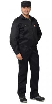 Костюм Охранник летний: куртка, брюки чёрный