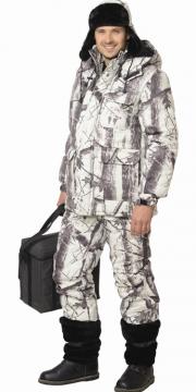 Костюм Снайпер: куртка длинная, полукомбинезон камуфляж Зима