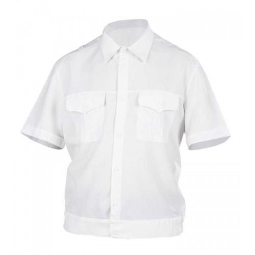 Рубашка полиции с коротким рукавом нового образца белая