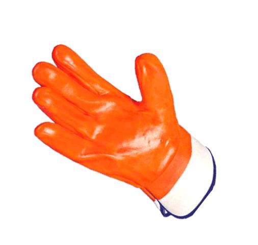 Перчатки Пламя артикул 6001-S нефтеморозостойкие с ПВХ покрытием