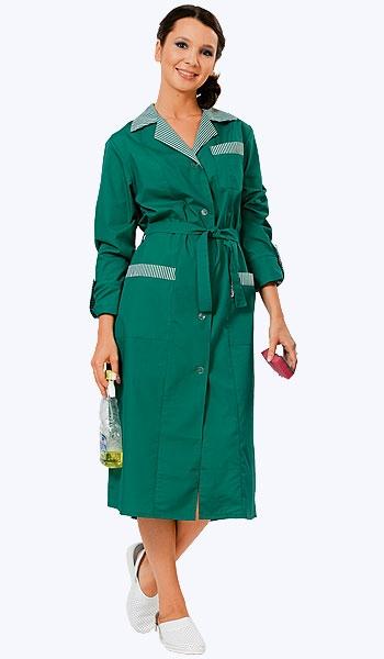 Халат Хозяюшка зеленый