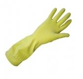 Перчатки хозяйственные латексные с х/б ворсовым напылением Лотос