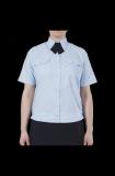 Блуза полиции женская светло-голубая с коротким рукавом на резинке