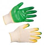 Перчатки трикотажные с двойным латексным покрытием ладони